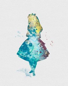 Alice in Wonderland Watercolor Art