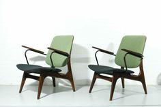 Lounge chairs by Louis van Teeffelen for WéBé Walraven & Bevers, 1960s