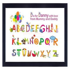 Personalised Alphabet Poster  from Personalised Gifts Shop - ONLY £19.95