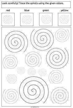 spirals, tracing, dyslexia, dyscalculia, parents, children, fine motory skills, worksheet Mehr zur Mathematik und Lernen allgemein unter zentral-lernen.de