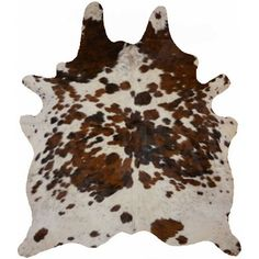 Natural Cowhide Tricolor Area Rug from Wayfair