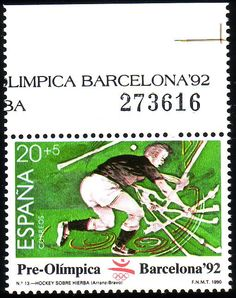Stamp from Spain Barcelona, Vintage Stamps, Writing Paper, Stamp Collecting, Olympic Games, Olympics, Europe, Poster, Seals