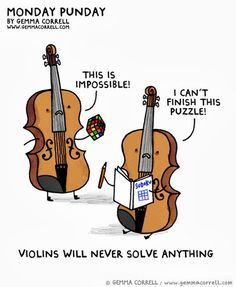 Puns | Violins Will Never Solve Anything | From Funny Technology - Google+ via Peter Angerani