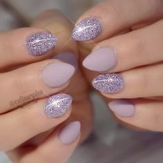 You can absolutely have short nails and look super pretty! 💗🌸✨ What color do you prefer with short nails? Orange Nail Designs, Short Nail Designs, Cute Nails, Pretty Nails, Hair And Nails, My Nails, Light Purple Nails, Pastel Purple, Purple Glitter