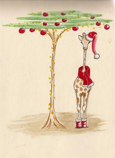 christmas giraffe - Google Search