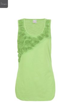 Ladies Floral Origami Tank | Fashion Tops