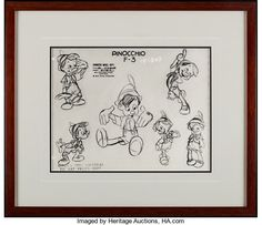 レイム・オー コレクション: 2018 December Animation Art Signature Auction Pinocchio, Walt Disney, Auction, Home Decor, Decoration Home, Room Decor, Home Interior Design, Home Decoration, Interior Design