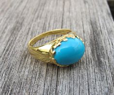Gemstone Rings-Stone Rings-Turquoise Ring-Silver Stone Ring- Blue Stone Rings-Gold Rings-Stone Rings-Sterling Silver Rings on Etsy, $186.99