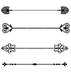 Fancy Page Dividers | Decorative lines vector 968503 by Navsekaya ...