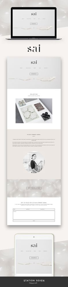 With soft and neutral colors, Studio Amber Isabel, creates an easy look on our Coastal WordPress theme. Click through to create your look.