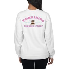 A new sweatshirt for Yorkshire Terrier lover and parent from our collection, Yorkie Staff. Dog Wear, Yorkshire Terrier, Dog Mom, Yorkie, Rib Knit, Girly, Graphic Sweatshirt, Unisex, Sweatshirts