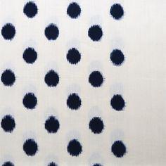 Sally Campbell, Handmade Textiles - Indigo Dalmatian Ikat