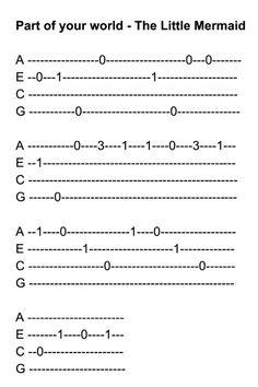 Ukulele Tabs Songs, Ukulele Fingerpicking Songs, Ukulele Songs Beginner, Guitar Songs For Beginners, Easy Guitar Tabs, Uke Tabs, Guitar Chords For Songs, Disney Ukulele, E Piano