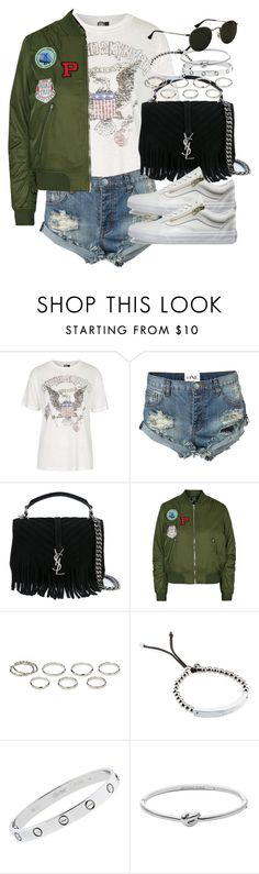 """Sin título #3746"" by hellomissapple on Polyvore featuring moda, Topshop, One Teaspoon, Yves Saint Laurent, Vans, Akira, Michael Kors y Cartier"