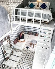 14 Impressive Tiny House Design Ideas That Maximize Function and Style Kleines Haus Design 15 Cute Bedroom Ideas, Girl Bedroom Designs, Room Ideas Bedroom, Teen Room Decor, Small Room Bedroom, Awesome Bedrooms, Girls Bedroom, Kid Decor, Teen Bedrooms