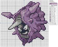 Birdie Stitching Pokemon Pattern - 91 Cloyster