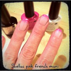 Shellac Hot Pop Pink Mani.