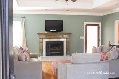 Today's Blog: Living Room Makeover with Silver Eucalyptus by #Valspar, by @glossy #31DaysOfColor #thepaintstudio #DIY #livingroom #inspiration