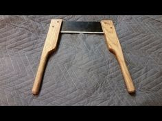 Home made flex Drawknife, Spokeshave, woodworking, Easy to make - YouTube