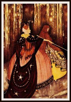 "Vintage Art Print Wall Decor Nursery Print ""The Firebird"" by Edmund Dulac, 8.5 x 11, Reproducttion Unframed"