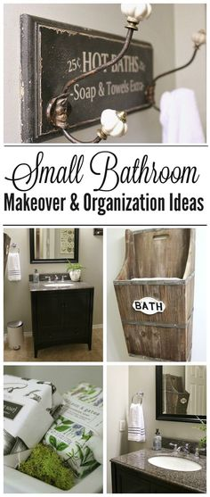 These small bathroom makeover and organization ideas are inexpensive and easy to do. Transform your bathroom in a day!