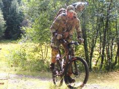 Strategies to use when bow hunting with a mountain bike -