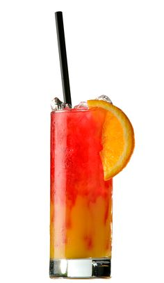 Tequila Sunrise: tequila, lime juice, soda water, and creme de cassis float; or 1oz tequila, orange juice, and grenadine float.