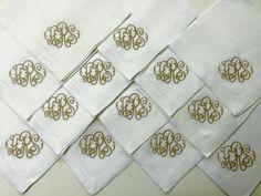 "Sferra ""Classico"" Italian 100% Linen napkin @www.bestmonogram.com"