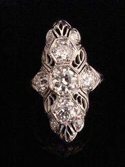 antique jewellery edwardian 18ct diamond marquis