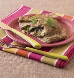 Galettes de sarrasin aux brocolis, brie et sardines - Recettes de cuisine Ôdélices