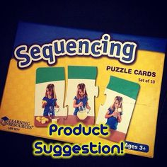 Product recommendation! Thanks, @therapyspot! One of our favorites! Sequencing photos that keep little hands busy. We can target actions, pronouns, describing, sentence formulation and so much more! - - click on pin for more! - Like our instagram posts? Please follow us there at instagram.com/pediastaff