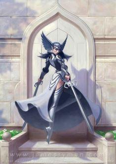 Warrior Maiden by namesjames on DeviantArt