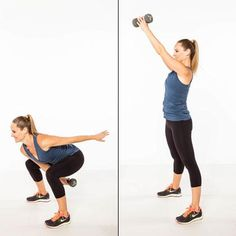 Squat Swing and Switch: great with kettle bells or dumbbells