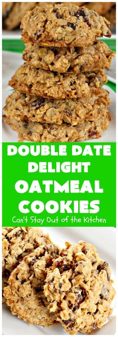 These fantastic oatmeal cookies are loaded with cinnamon and dates. They truly are doubly delicious. Great for tailgating parties and holiday baking, especially Christmas Cookie Exchanges. Better than Oatmeal Raisin cookies! Best Oatmeal Cookies, Oatmeal Cookie Recipes, Date Cookies, B Recipe, Walnut Cookies, Holiday Baking, Cookies Et Biscuits, Sweet Tooth, Dessert Recipes
