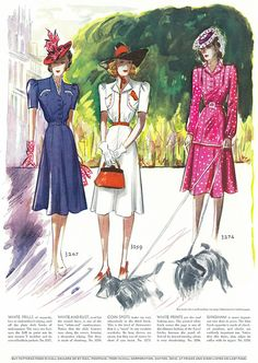 Three wonderfully lovely warm weather looks from 1939. #vintage #1930s #fashion…
