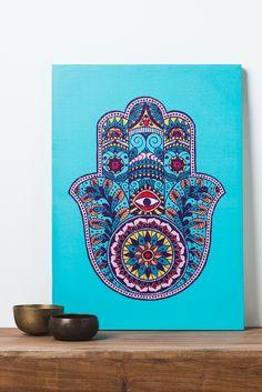 Hamsa Hand Canvas Art