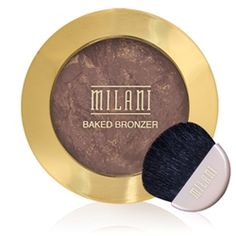 BAKED BRONZER in Golden (Milani); nice bronzer for darker skin without being too shimmery