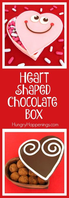 Store your candy inside a container that you can eat afterwards. Brilliantly Delicious! This Heart Shaped Chocolate Box will make everybody's real and chocolate heart melt.