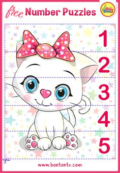 FREE Number Puzzles - Preschool Printables for Kids - Learning Numbers, Counting - Fun Math Activities and Worksheets for Homeschooling by BonTon TV - Besplatne Puzzle za zabavno učenje brojeva od 1 do 10 - Matematika, Brojanje do 10 Free Preschool, Preschool Printables, Learning Numbers, Kids Learning, Numbers For Kids, Numbers Preschool, Abc Crafts, Fun Math Activities, Number Puzzles