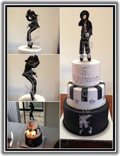 Michael Jackson birthday cake for my little nephew, Raymon. MJ figurine made out of sugarpaste