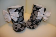 Inspired Toddler Baby Boots with Faux Fur Lining. $39.95, via Etsy.