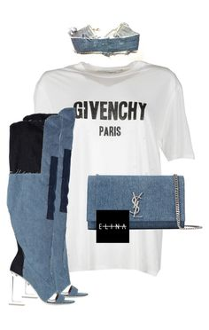 """""""Untitled #1520"""" by elinaxblack ❤ liked on Polyvore featuring Givenchy, Levi's and Yves Saint Laurent"""