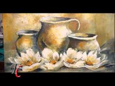 MONITOR | Gabriela Mensaque utiliza productos Monitor | Fusión CREAR - YouTube Rose Oil Painting, Oil Pastel Paintings, Tole Painting, Painting & Drawing, Watercolor Paintings, Still Life Art, Painting Videos, Abstract Flowers, Art Tutorials