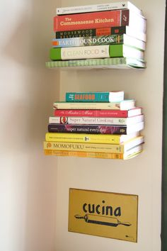 Cookbooks in my kitchen... want!