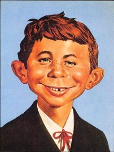 The fictitious mascot and cover boy of Mad Magazine.