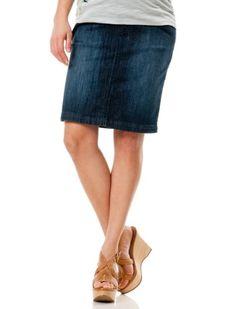 Motherhood Maternity: Indigo Blue Secret Fit Belly(tm) Knee Length Straight Fit Maternity Skirt $34.98