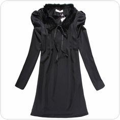 women clothing supplier china ladies winter dress k513 Black