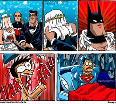funny comic superman and batman Humor Batman, Batman E Superman, Superhero Humor, Spiderman, Superhero Cartoon, Marvel Dc, Marvel Comics, Bd Comics, Dc Comics Funny