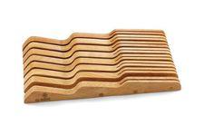 Mundial Solid Wood In-Drawer Knife Storage Tray, Large Mundial