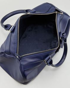 Navy Bowler Longchamp Bag Sultan Au Leather HqWwpPA